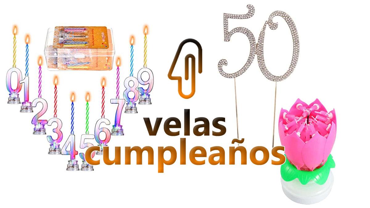 velas para cumpleaños